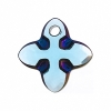 Swarovski Pendant 6868 Cross Tribe 24mm Aquamarine Metallic Blue 1Pc